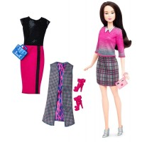 Barbie Fashionistas - Lalka z ubrankami Chic With A Wink DTD99