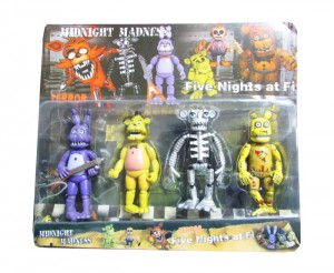 Five Nights At Freddy's Figurki - FNAF Zestaw 4 figurek