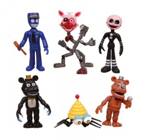 Five Nights At Freddy's Figurki - FNAF Zestaw 6 figurek A
